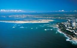 Australia: Airshot of Caloundra, Queensland, Sunshine Coast stock photos