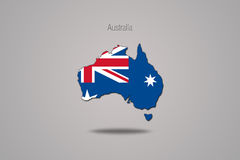 Australia aisló en fondo gris Foto de archivo libre de regalías