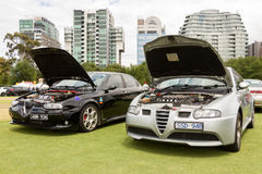 Australia: Alfa Romeo Spettacolo held in Melbourne, November 29,. The  Alfa Romeo Owners Club of Australia hosted the Alfa Romeo Spettacolo, an annual high-end Royalty Free Stock Photos