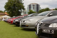 Australia: Alfa Romeo Spettacolo held in Melbourne, November 29,. The  Alfa Romeo Owners Club of Australia hosted the Alfa Romeo Spettacolo, an annual high-end Stock Photos