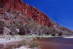 Australia: Alice Springs River and Canyon cruise. Australia: A Canyon cruise on Alice Springs River belongs to the major tourist attractions royalty free stock photography