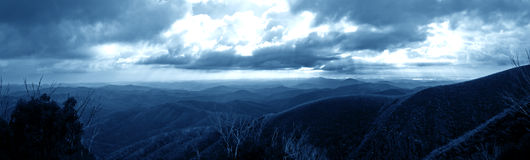 Australia Alps Mountain. From staircase spur Royalty Free Stock Photography