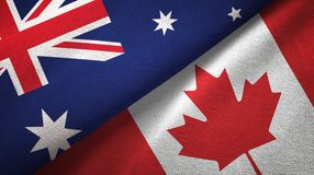 Free Australia And Canada Two Flags Textile Cloth, Fabric Texture Stock Photos - 139211193