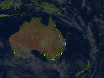 Free Australia And New Zealand At Night On Planet Earth Stock Images - 88070384