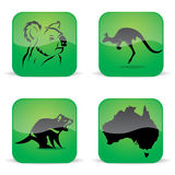 Australia animal symbols Stock Photography