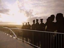 Australia: ANZAC pomnika most Newcastle Obrazy Royalty Free