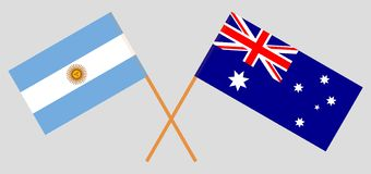 Australia and Argentina. The Australian and Argentinean flags. Official colors. Correct proportion. Vector. Illustrationn stock illustration