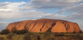 Australia ayers rock. A few minutes before sunset royalty free stock photo