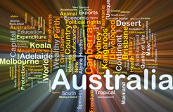 Australia background concept glowing Royalty Free Stock Photos