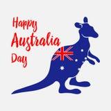 australia balonowe dzień flaga prezenta ikony ustawiać Święto narodowe Kangur malujący w flaga kraj wektor ilustracji