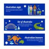 Australia Banner Set Royalty Free Stock Photos