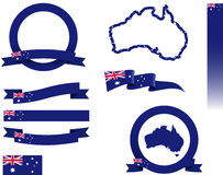 Australia Banner Set. Vector graphic ribbons and banners representing Australia Royalty Free Stock Photo