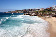 Australia Beach. Surfers at Tamarama Beach, Sydney Australia Stock Photo