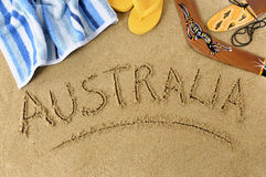 Australia beach boomerang Stock Photos
