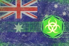 Australia biohazard threat. Virus hazard concept. Royalty Free Stock Images