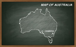Australia on blackboard Stock Photography