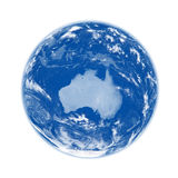 Australia on blue Earth Royalty Free Stock Images