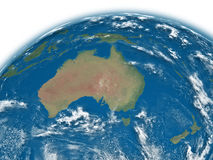 Australia on blue Earth Stock Image