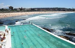 Australia Bondi Icebergs Pool. Bondi Icebergs Pool and Bondi Beach Royalty Free Stock Images