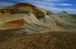 Australia: The Breakaways in the outback near the opal miner city Coober Pedy royalty free stock photo
