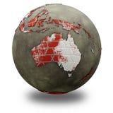 Australia on brick wall Earth Stock Images