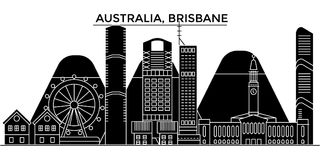 Australia, Brisbane architecture vector city skyline, travel cityscape with landmarks, buildings, isolated sights on. Australia, Brisbane architecture vector Stock Photos