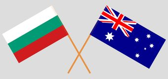 Australia and Bulgaria. The Australian and Bulgarian flags. Official colors. Correct proportion. Vector. Illustrationn stock illustration