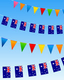 Australia bunting flags Royalty Free Stock Photos