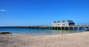 Australia Busselton Jetty. In Australia view of one longest wood world Jettys at Busselton in Geographe Bay -western part of the country. The Jetty have 1841 stock image