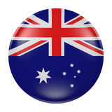 Australia button on white background. 3d rendering of an Australia flag on a button Stock Photo
