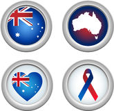 Australia Buttons Royalty Free Stock Photography