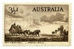 Australia canceló el correo real del sello 1955 imagenes de archivo