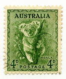 Australia cancelled stamp 1937 Koala Stock Photography