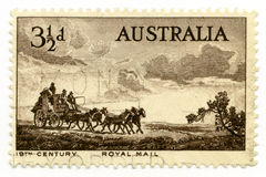 Australia cancelled stamp 1955 royal mail stock images