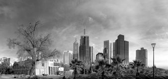 australia centrum miasta pieniężny Melbourne rzeczny linia horyzontu widok yarra obrazy stock