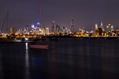 australia centrum pieniężny Melbourne rzeczny linia horyzontu widok yarra Obrazy Stock