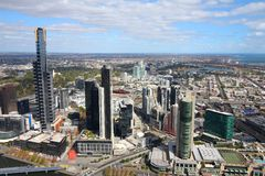 australia centrum pieniężny Melbourne rzeczny linia horyzontu widok yarra Obrazy Royalty Free