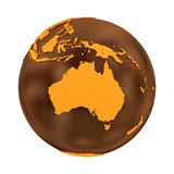Australia on chocolate Earth Stock Photo