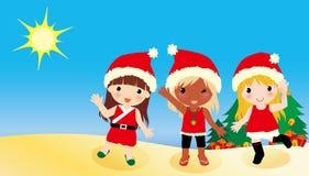 Australia Christmas girls Stock Images