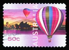 AUSTRALIA - postage stamp. AUSTRALIA - CIRCA 2008: A stamp printed in Australia shows Opera House with balloons show, Sydney, circa 2008 stock photo