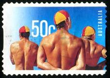 Postage stamp. AUSTRALIA - CIRCA 2007: stamp printed by Australia, shows summer, circa 2007 royalty free stock photo