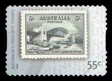 AUSTRALIA - Postage Stamp. AUSTRALIA - CIRCA 2009: A stamp printed in Australia shows the Sydney Harbour Bridge, Favourite Stamps serie, circa 2009 stock photos