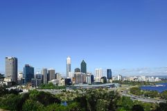 Australia City of Perth panoramic view Royalty Free Stock Photo