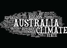 Australia Climate Word Cloud Concept Royalty Free Stock Image