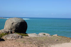 The australia coast. Photo image with ocean and rocks Royalty Free Stock Photo