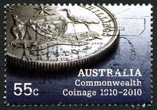 Australia Commonwealth Coinage Postage Stamp Stock Photo