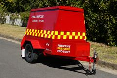 Australia: community fire unit in suburban street royalty free stock photography