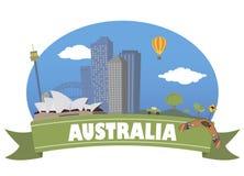 australia con el foco en los prismáticos Foto de archivo
