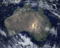 Australia Continent Satellite Space View. The continent of Australia with a satellite space view. Nice image of the world we call planet Earth Stock Photos