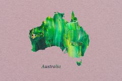 Artistic Map of Australia stock illustration